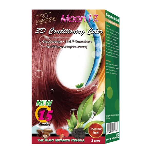 3D Conditioning Color - Chestnut Red (NO PPD)  3 Packs