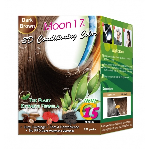 3D Conditioning Color - Dark Brown (NO PPD)  10 Packs