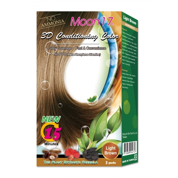 3D Conditioning Color - Light Brown (NO PPD)  3 Packs