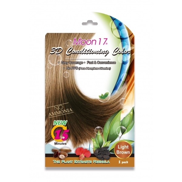 3D Conditioning Color - Light Brown (NO PPD)  1 Pack